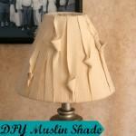DIY Muslin Lampshade