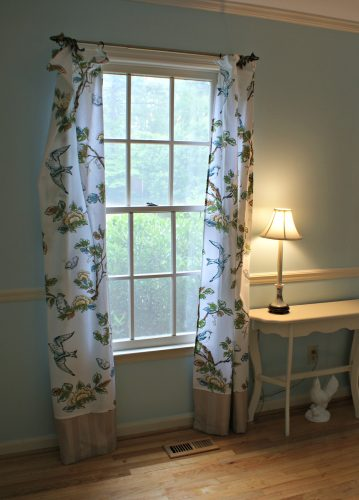 No Sew Curtains For The Dining Room