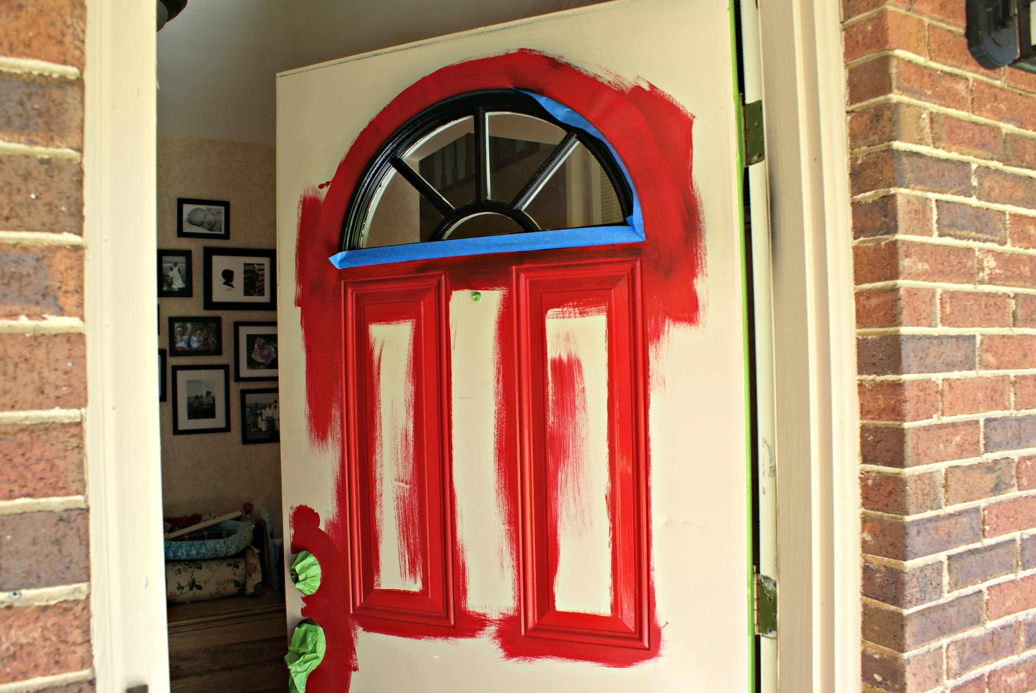How To Paint A Front Door Happy House  3 Little Greenwoods