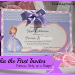 Sofia the First Birthday Invites {Free Printables}