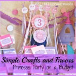 Simple Princess Party Favors