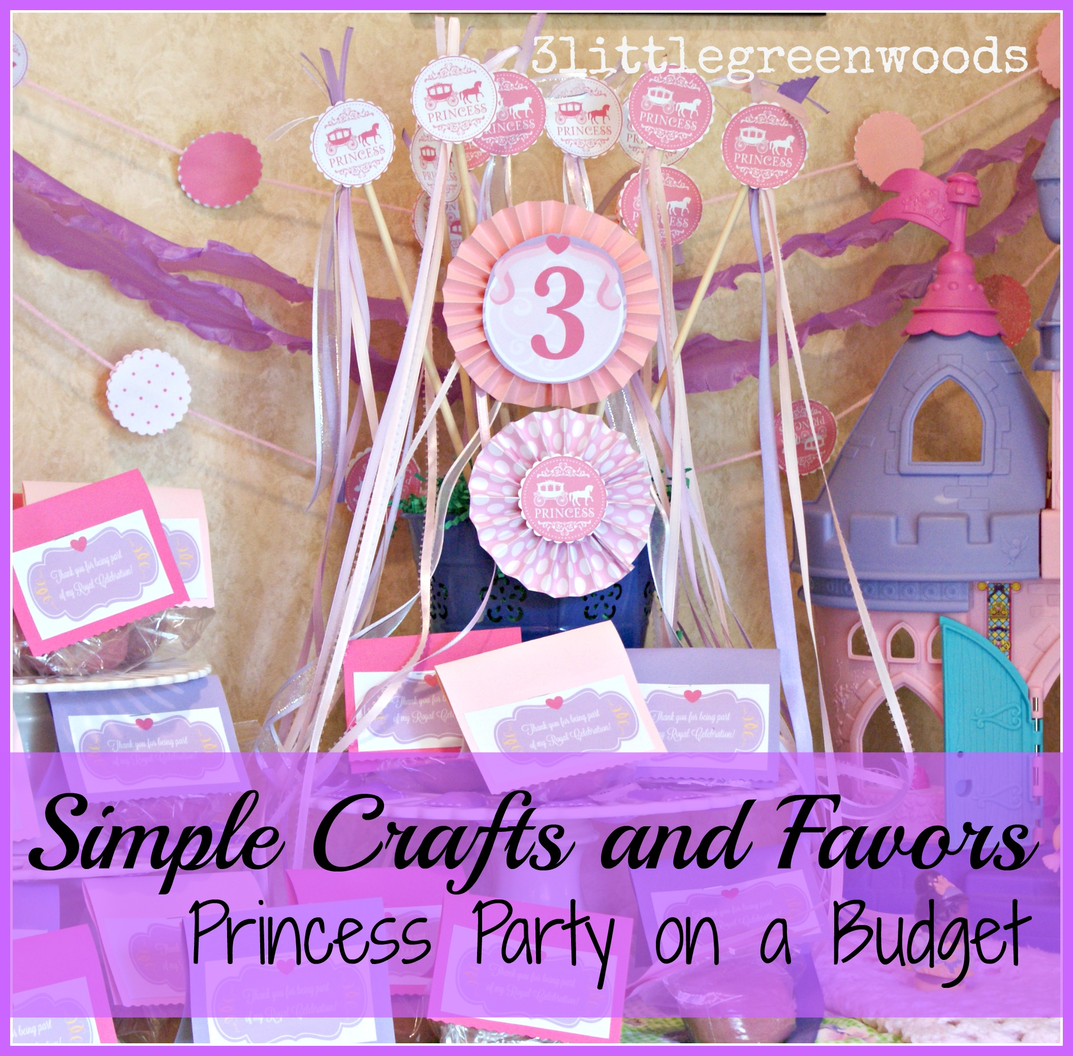 Diy Princess Party Decoration Ideas Part - 19: Sofia the First Princess Party on a Budget @ 3littlegreenwoods
