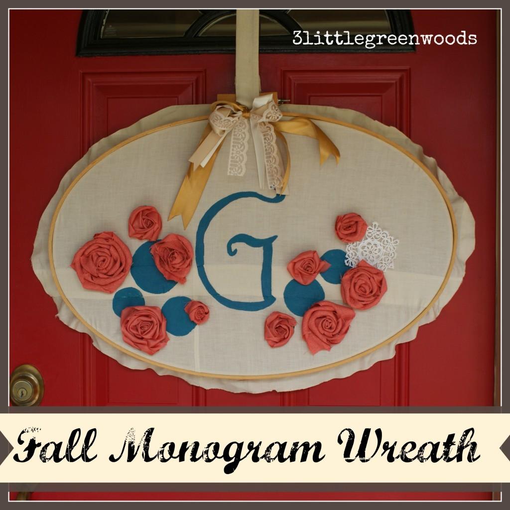Fall Monogram Wreath @ 3 littlegreenwoods