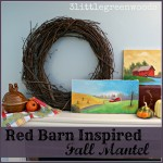 Red Barn Inspired Fall Mantel