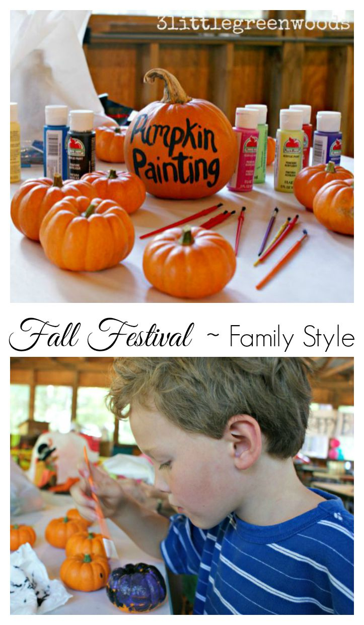 MUST PIN post for planning a simple Family Style Fall Festival by 3 Little Greenwoods