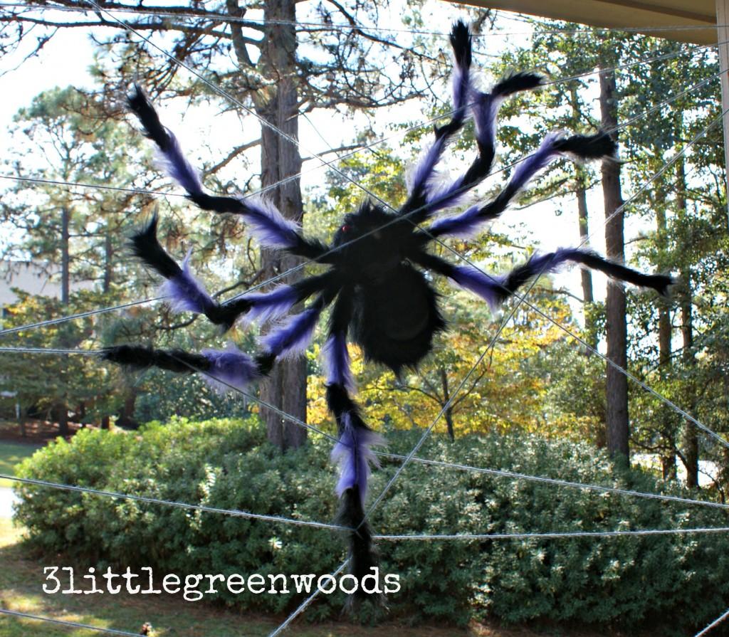 Kid-Made Spider Web @ 3littlegreenwoods