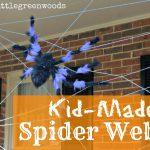 Kid-Made Spider Web
