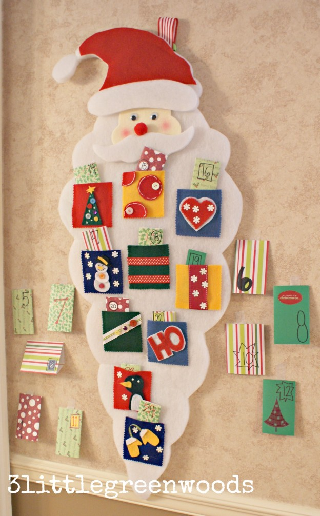 creative diy advent calendars - simple christmas countdown - 3littlegreenwoods.com
