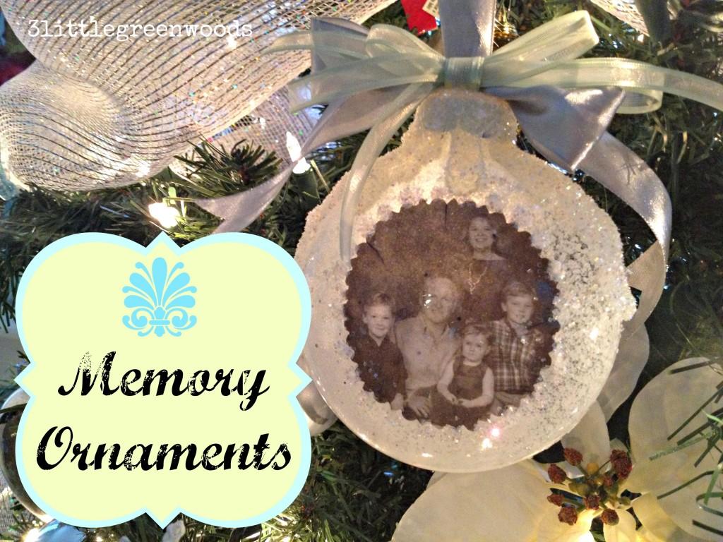 Memory Ornaments using photographs @ 3littlegreenwoods