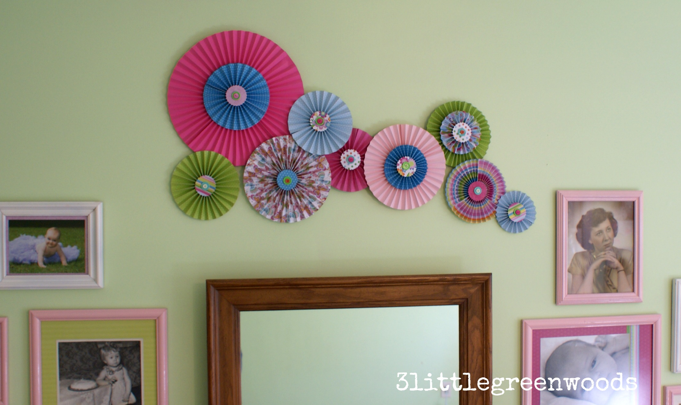 Paper Pinwheels Wall Art On A Budget