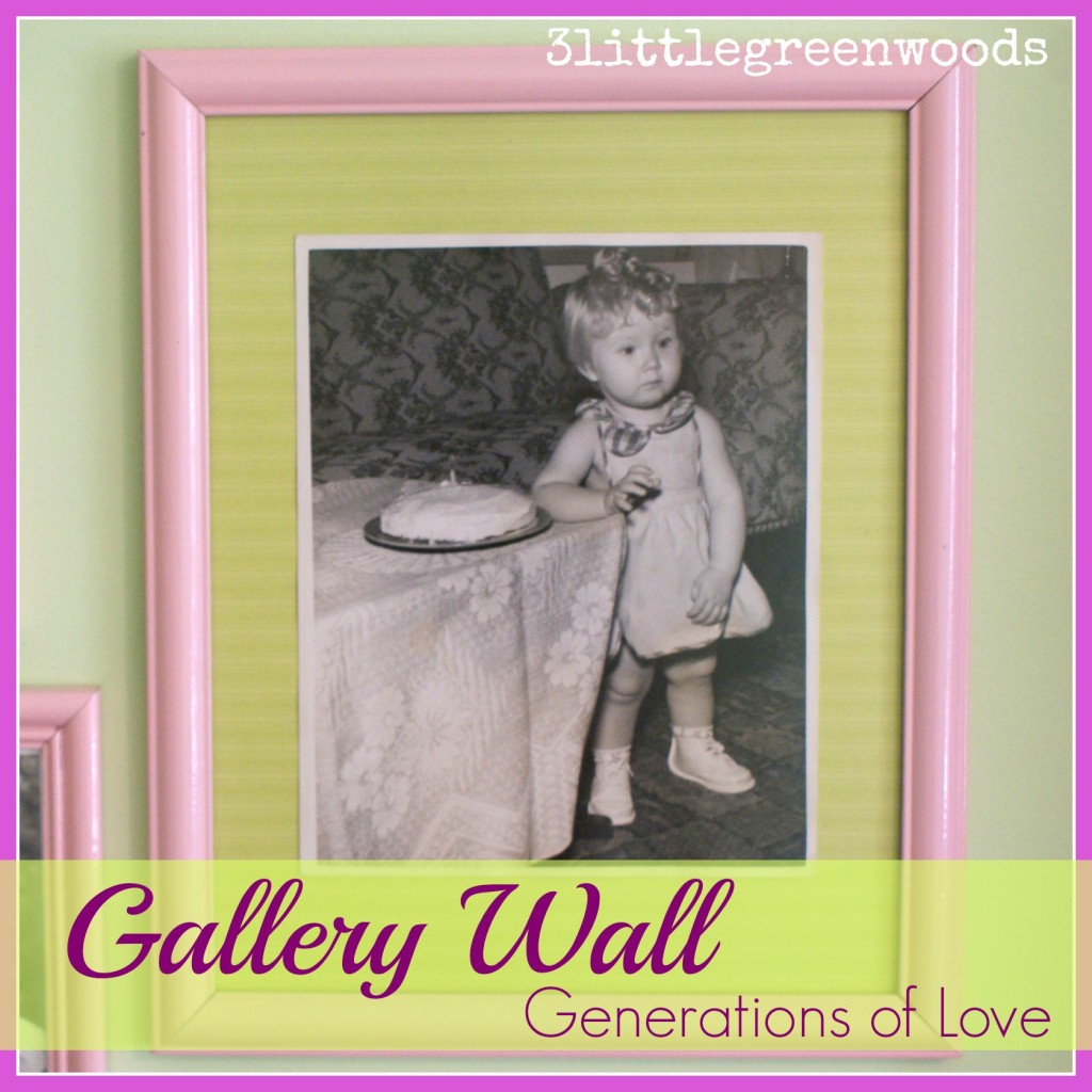 gallery wall girls room