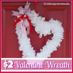 $2 Valentine Wreath Made with Trash Bags!