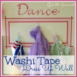 Washi Tape Dress Up Wall