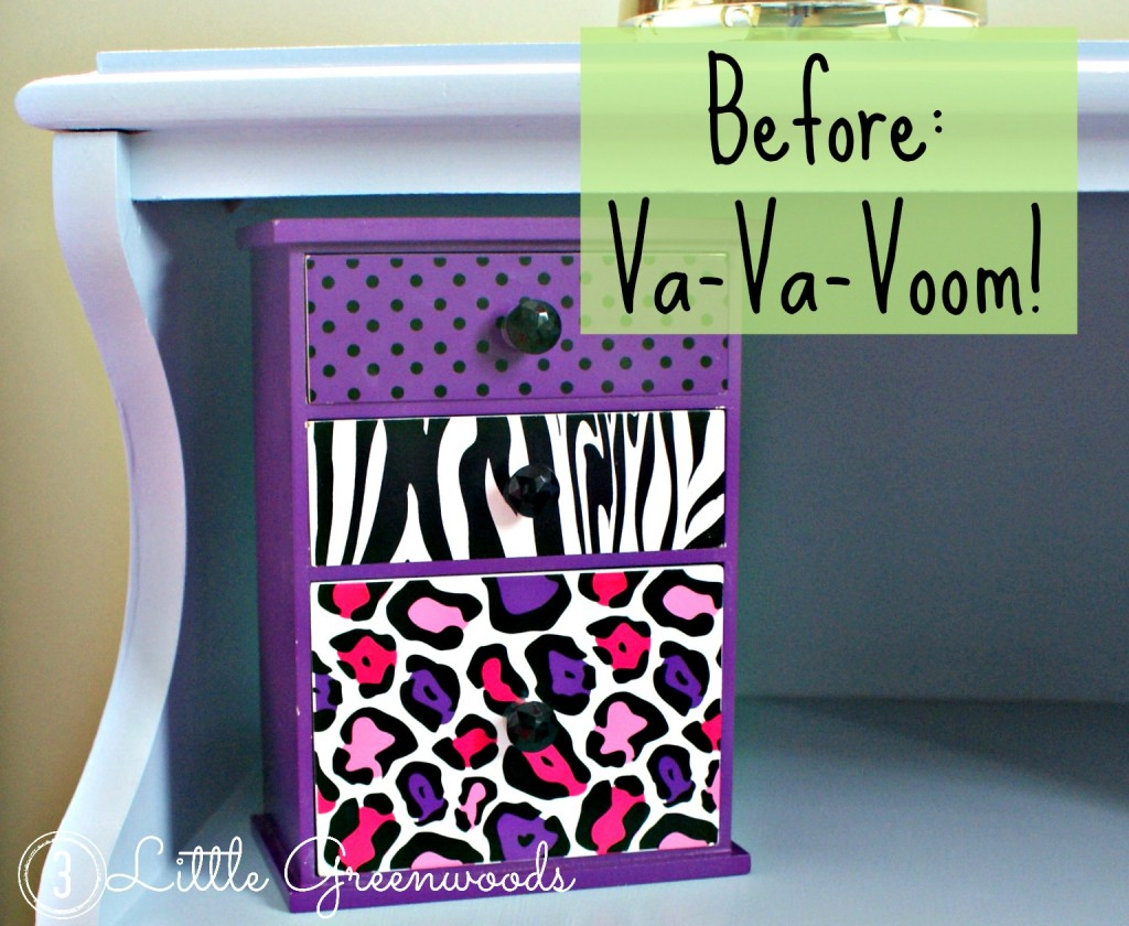 Little Girl's Jewelry Box Makeover by 3 Little Greenwoods