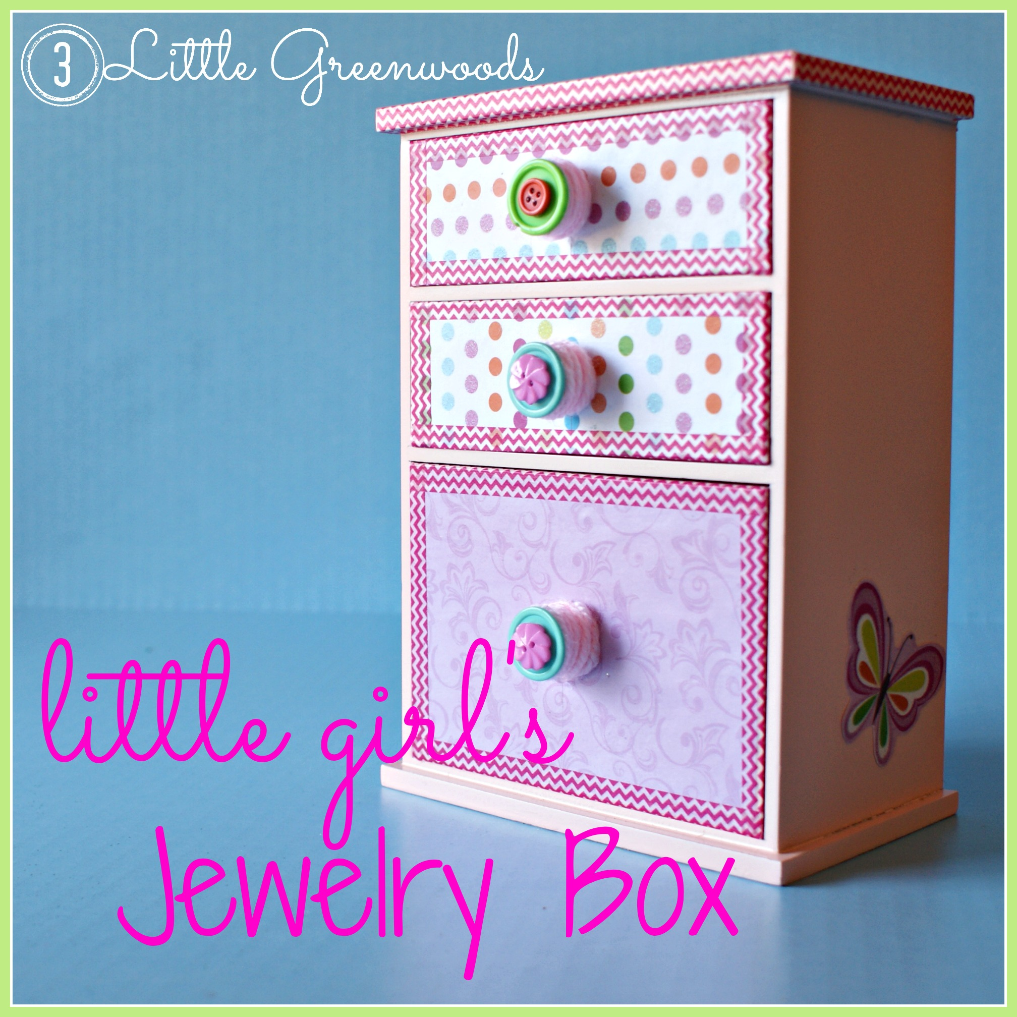 Upcycled Little Girls Jewelry Box 3 Little Greenwoods