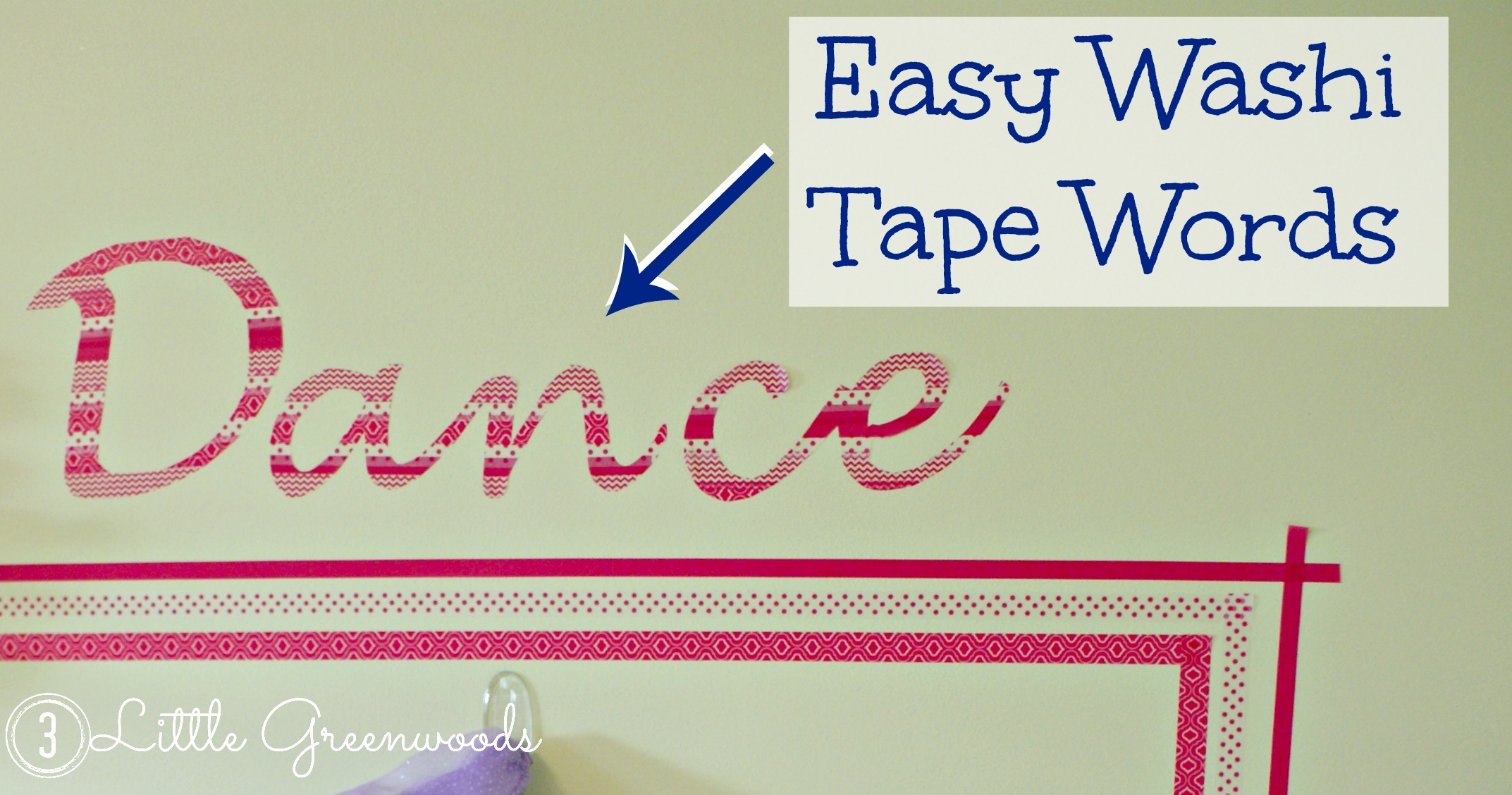 Washi Tape Dress Up Wall Beauty Through Imperfection