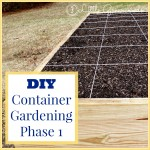DIY Container Garden ~ Construction