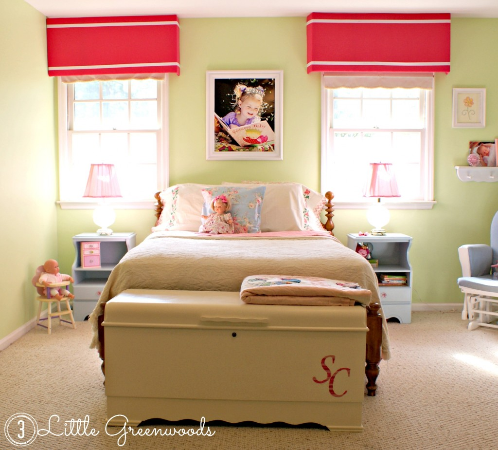 Adorable Little Girl's Bedroom Makeover by 3 Little Greenwoods {3littlegreenwoods}