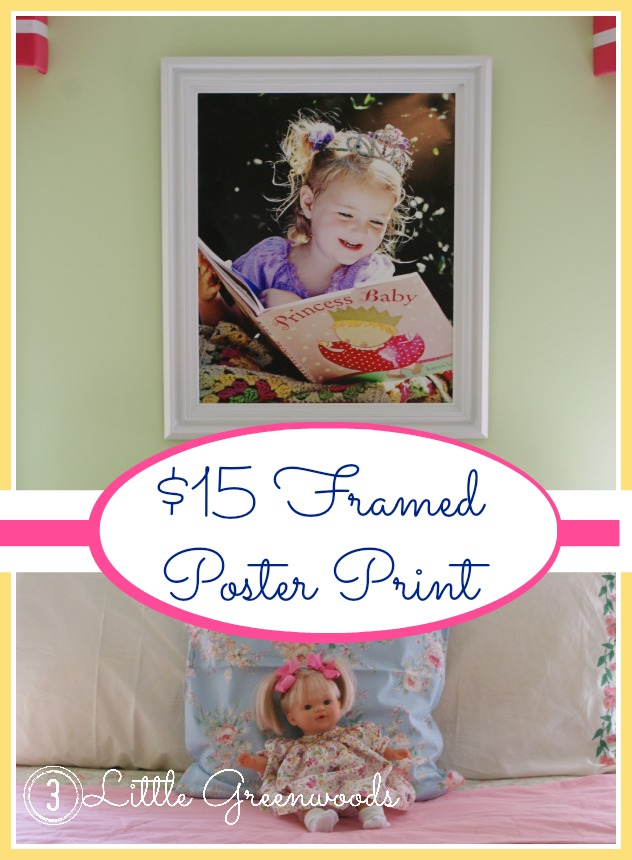 $15 Framed Poster Print by 3 Little Greenwoods