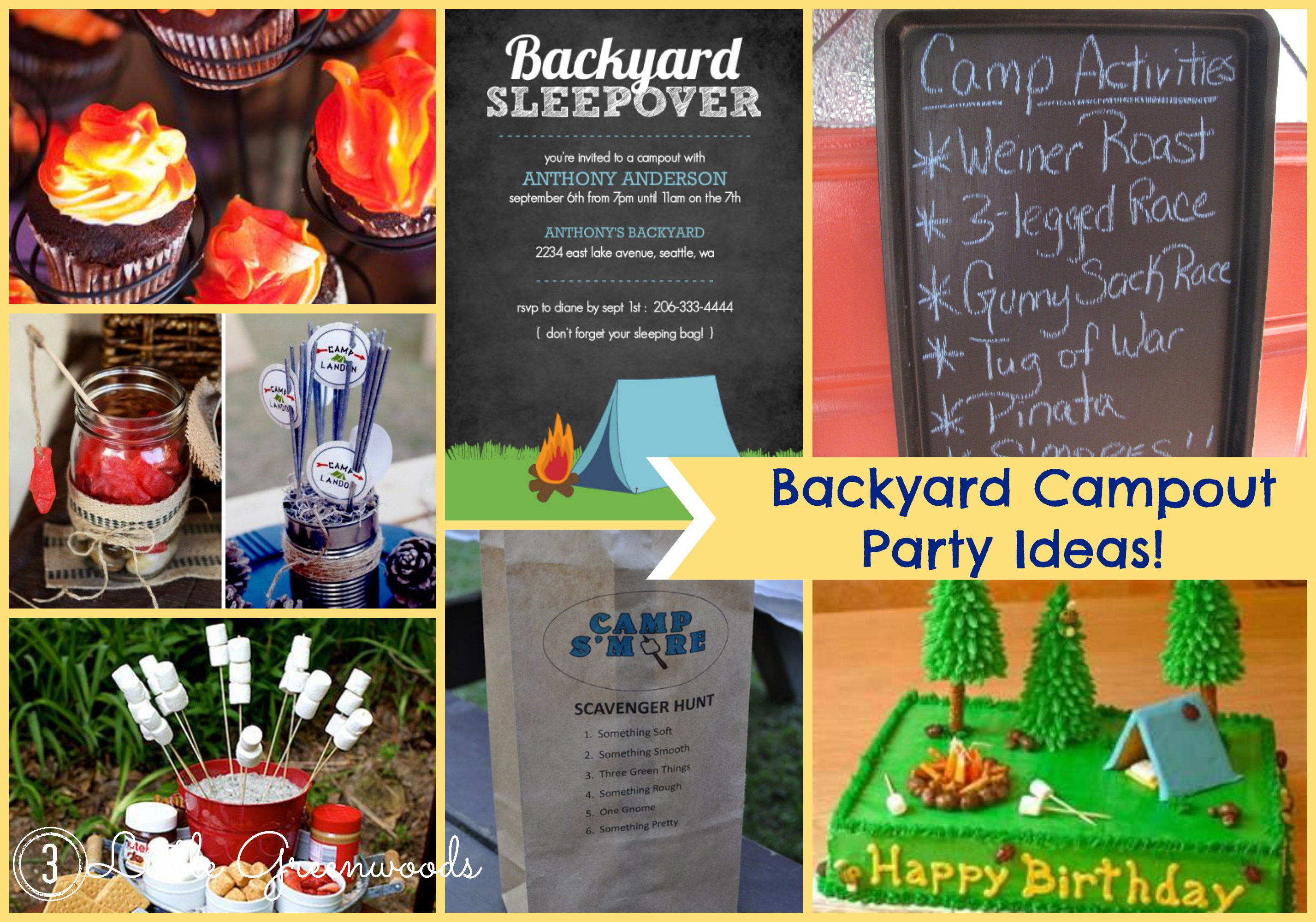 Backyard Campout Party Inspiration