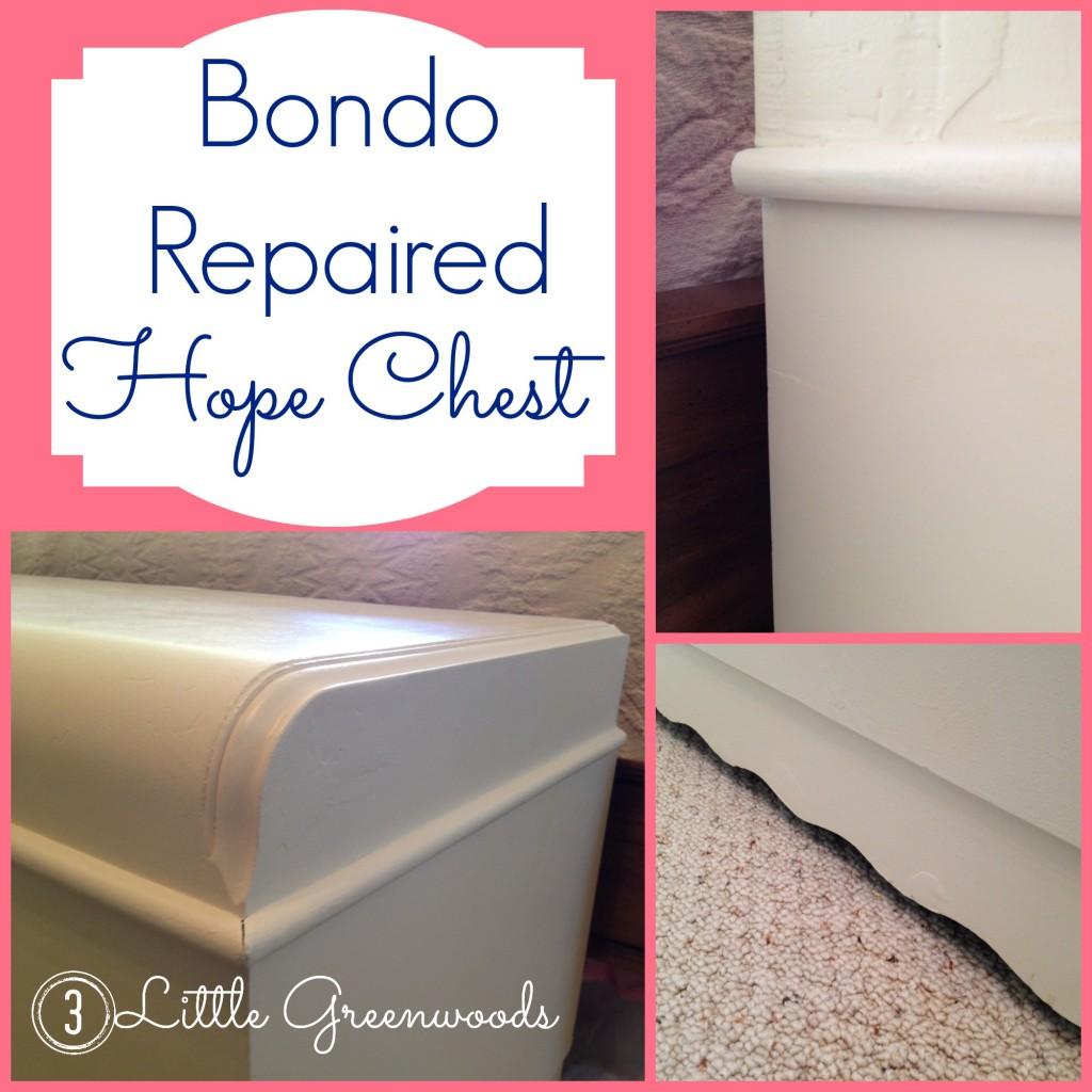 Bondo Repaired Hope Chest {3littlegreenwoods.com}