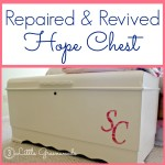My Grandmother's Hope Chest ~ How to Repair Wood Veneer