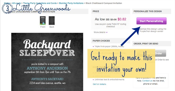 backyard campout invitations
