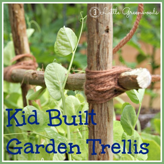 Kid Created Garden Trellis by 3 Little Greenwoods