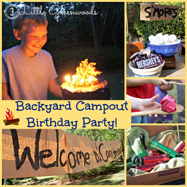 Backyard Camping Birthday Party Fun