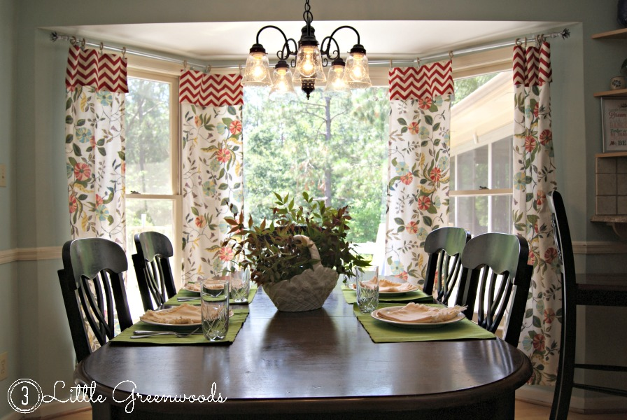 No Sew Kitchen Curtains From Tablecloths