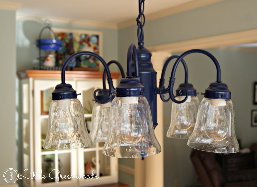 Spray painting a chandelier navy navy kitchen chandelier by 3 little greenwoods 3littlegreenwoods aloadofball Images