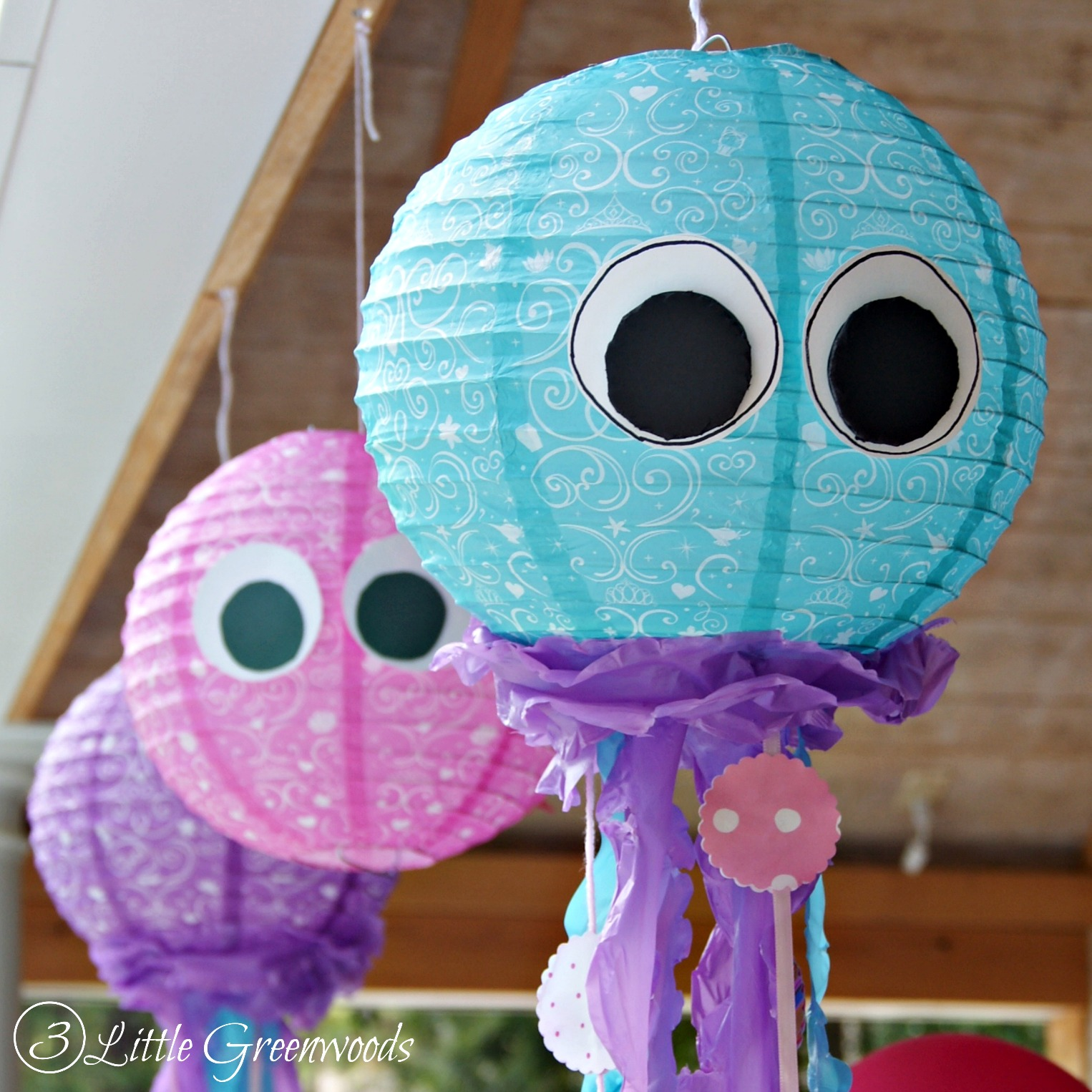Diy Jellyfish Decorations Simple Paper Lantern Jellyfish For A Little Mermaid Birthday Party