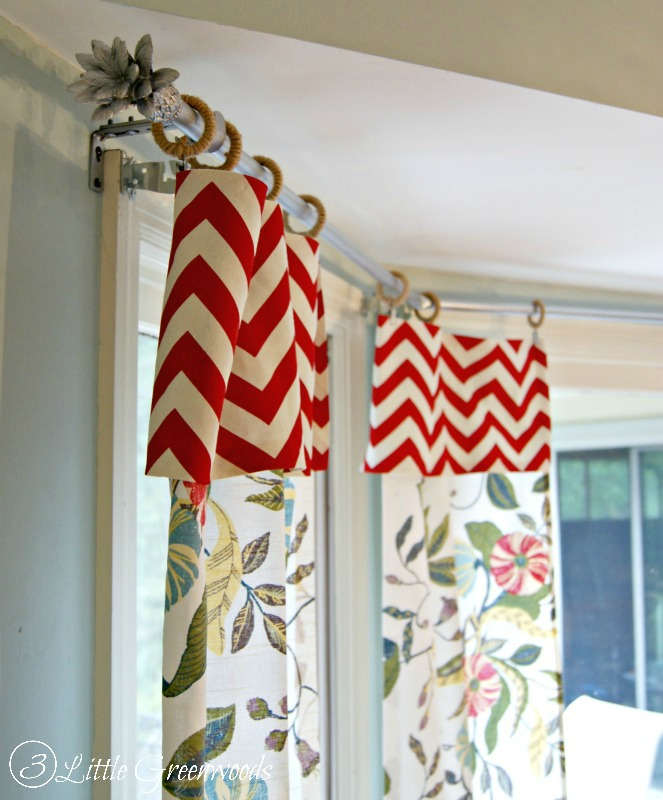 The secret to diy bay window curtain rods from 3 little for Super cheap home decor