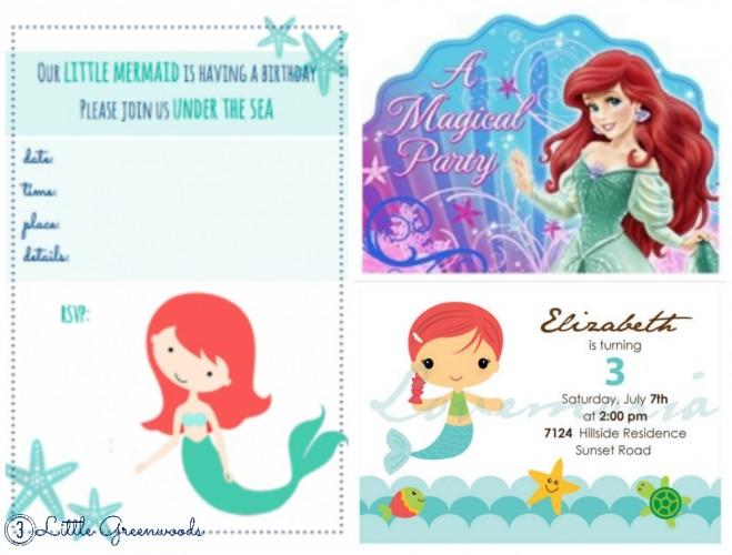 Mermaid birthday party ideas 3 little greenwoods mermaid birthday party ideas invitations mermaid invites inspiration free printable filmwisefo Gallery