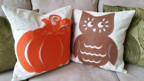 Fall Dollar Tree pillows from My Craft Spot