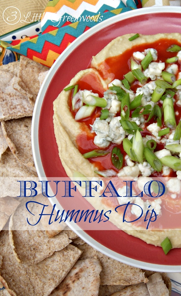 Buffalo Blue Hummus Dip by 3 Little Greenwoods