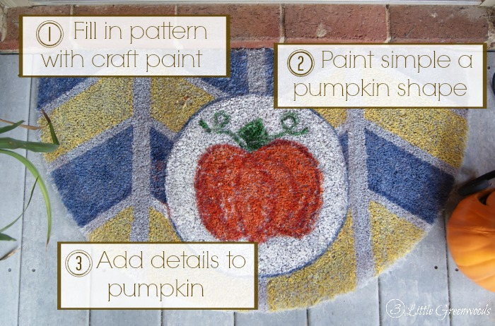 pumpkin welcome mat tutorial