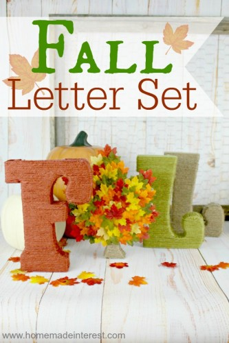 Fall Letter Set from Home.Made.Interest.
