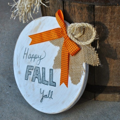 Pumpkin Sign from Gingerly Made