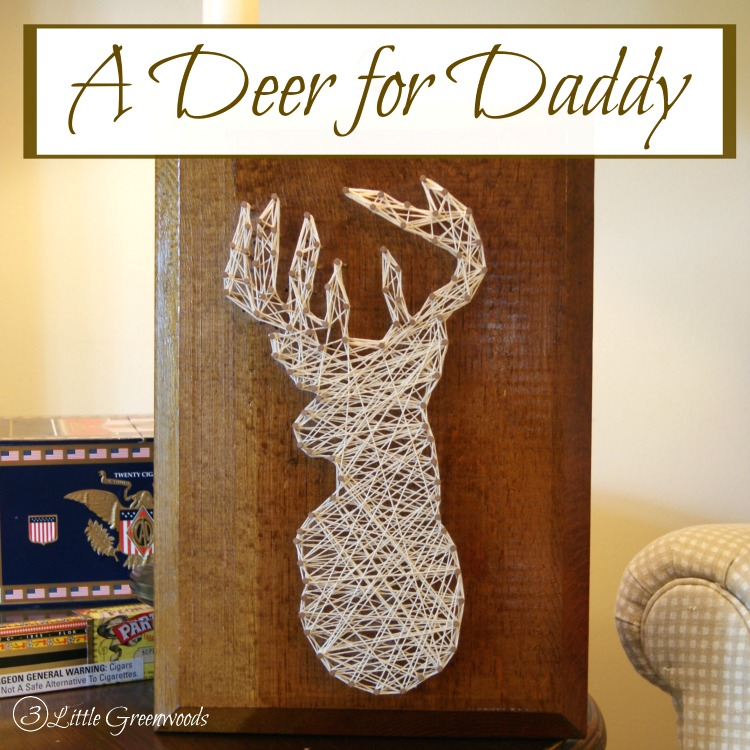 AMAZING DIY String Art Deer tutorial! So simple even a kid can do it! Great gift for Father's Day! #StringArt #DIYStringArtDeer #DeerArt #DIYArt