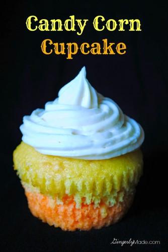 Candy Corn Cupcake Title Image