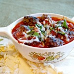Paleo Bacon Meatballs with Tomato Sauce
