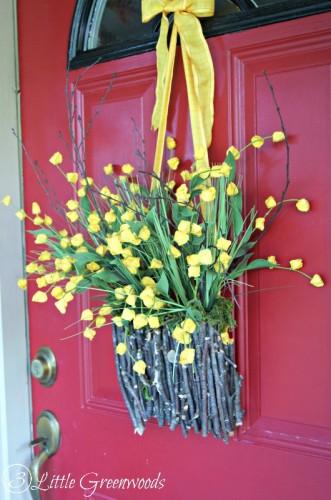 Fall Branch Basket Wreath by 3 Little Greenwoods