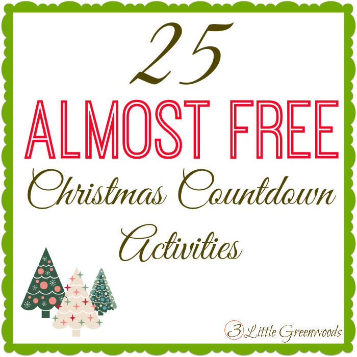 Christmas countdown Activities