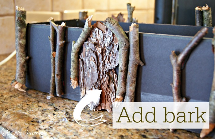 MUST PIN! Awesome tutorial for making a Rustic Branch Basket Centerpiece by 3 Little Greenwoods All you need are TWO supplies to create your own! Perfect for a #RusticWedding #DIYRusticWedding #DIYFloralArrangement