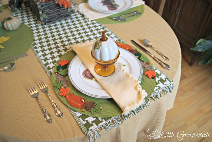 Fall Inspired Thanksgiving Placemats by 3 Little Greenwoods