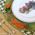 Fall Leaf Placemats for the Thanksgiving Table {My Crafty Spot}