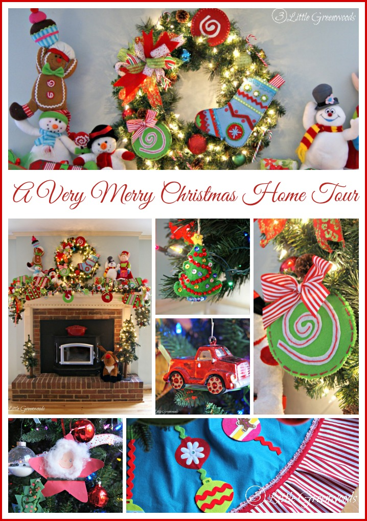 A Very Merry Home Tour with 3 Little Greenwoods