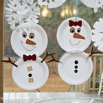 Chase Away the Winter Blues ~ Build a Snowman Family {Kid Craft}