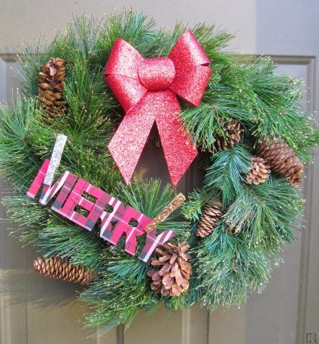 Rustic Glittery Wreath